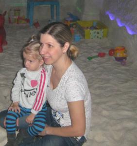 В соляной пещере вместе с мамой